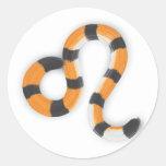 """Leo in Tiger's Style"". Classic Round Sticker"