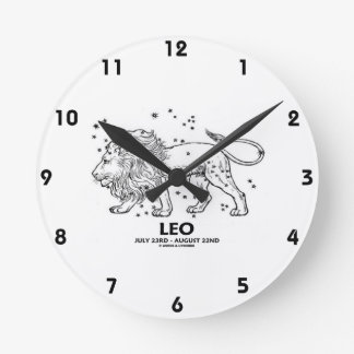 Leo (July 23 - August 22) Constellation Round Clock