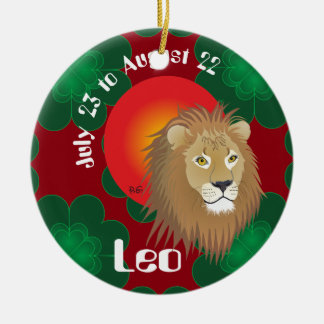 Leo July 23 to los agosto 22 ornamento