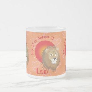 Leo July 23 to los agosto de 22 Mug Taza De Café Esmerilada