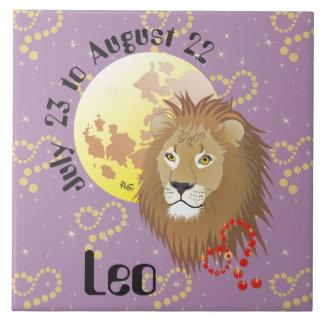 Leo July 23 to los agosto de 22 Tile Azulejo Cuadrado Grande