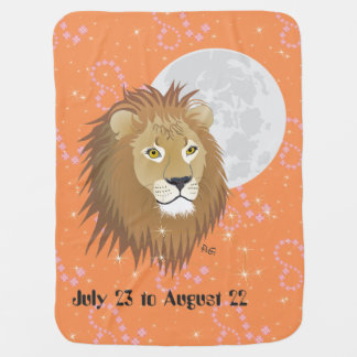 Leo July 23 tons of August 22 baby blank Receiving Blanket
