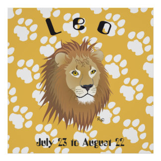 Leo July 23 tons of August 22 posters & kind print