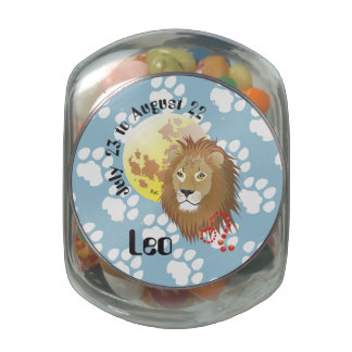 Leo July 23 tons of August 22 Snip Snap Tin Jelly Belly Candy Jar