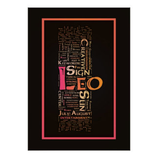 Leo Key Words Poster