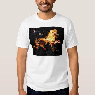 Leo - la camiseta de los hombres poleras