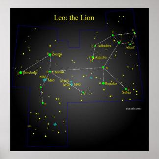 Leo la constelación del león poster