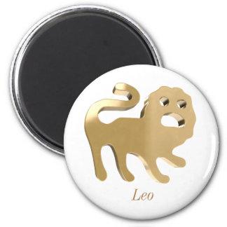 Leo, leone imán redondo 5 cm