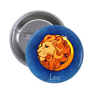 Leo, leone pin redondo de 2 pulgadas