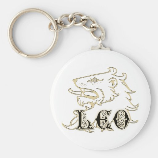 Leo Lion Astrology Sign Key Chain