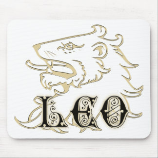 Leo Lion Astrology Sign Mouse Pad