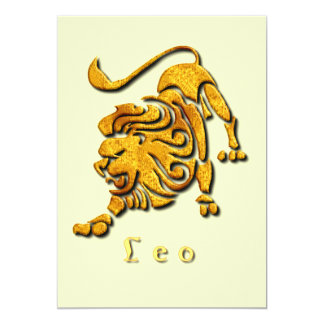 Leo Lion Invitation