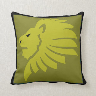 Leo Lion Pillow in Gold and Black