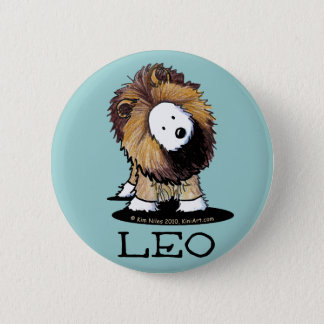 LEO Lion Westie Pinback Button