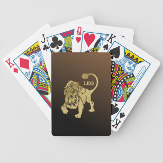 Leo Lion Zodiac Bicycle Playing Cards