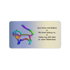 Leo Lion Zodiac Gift Tag Name Tag Book Library at Zazzle