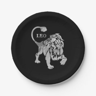 Leo Lion Zodiac Paper Plate