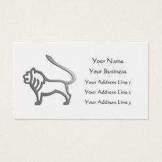 Leo Lion Zodiac Star Sign Gold Vet Bookmark Business Card at Zazzle