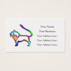 Leo Lion Zodiac Star Sign Rainbow Color Business Card at Zazzle