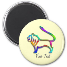 Leo Lion Zodiac Star Sign Rainbow Color Magnet at Zazzle