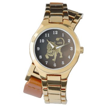 Leo Lion Zodiac Wristwatch