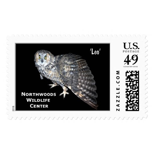 'Leo' Long-eared Owl Postage Stamp
