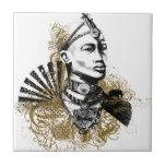 "Leo Maasai Man Ceramic Tile<br><div class=""desc"">A true Kenyan Maasai Man</div>"