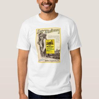 Leo Maloney 1927 silent movie exhibitor ad Tee Shirt