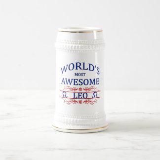 Leo más impresionante del mundo jarra de cerveza