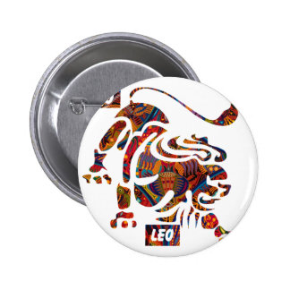 LEO MAYAN HOROSCOPES PRODUCTS PINBACK BUTTON
