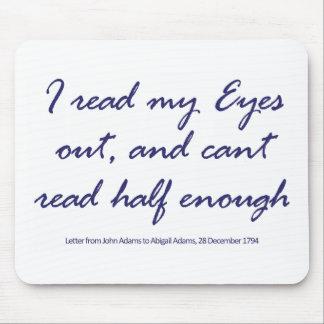 Leo mis ojos, y no puedo leer a medias bastante mousepads