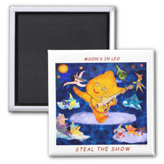 LEO MOON 2 INCH SQUARE MAGNET