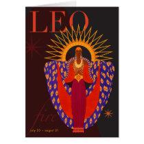 Leo Note Card