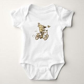 leo on bike infant creeper