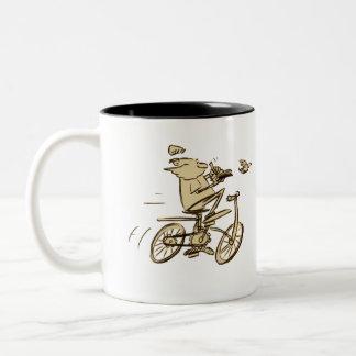 leo on bike mug
