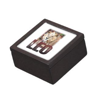 Leo or African Lion, a wild, dangerous feline cat Premium Gift Box
