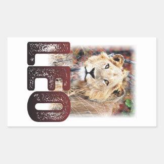 Leo or African Lion, a wild, dangerous feline cat Rectangular Sticker