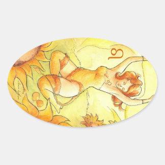Leo Oval Sticker