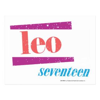 Leo Pink Postcard