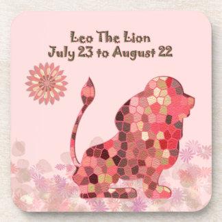 Leo Plastic Coaster (set of 6)