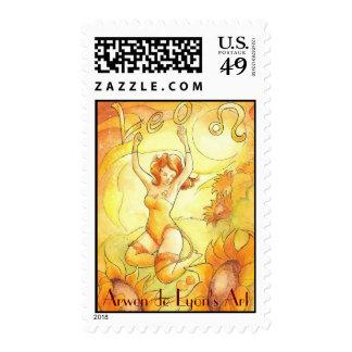 Leo Postage Stamp