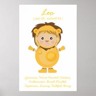Leo - poster del horóscopo del chica