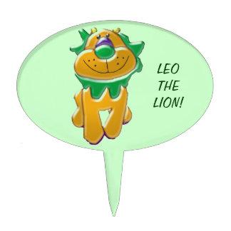 Leo primero de la torta del león figura para tarta