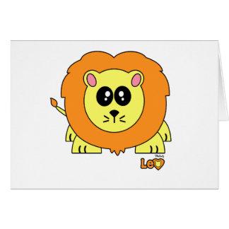 Leo Pudgie Pet Card