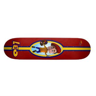 Leo Racing Stripes Red Skateboard