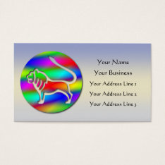 Leo Rainbow Color Lion Zodiac Star Sign Business Card at Zazzle