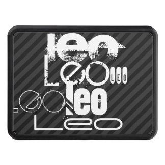 Leo; Rayas negras y gris oscuro Tapas De Remolque