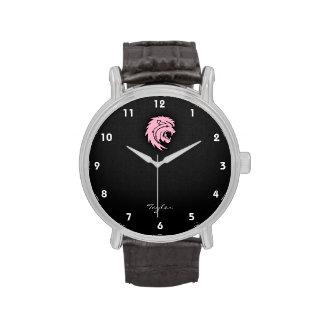 Leo rosa claro reloj