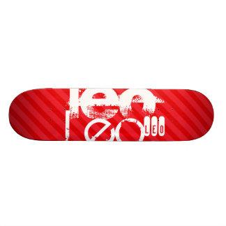 Leo; Scarlet Red Stripes Skateboard