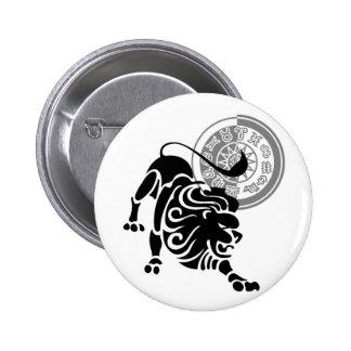 Leo Shadow Pinback Button